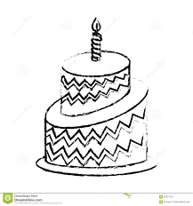 Birthday Cake Icon Image Stock Illustration Illustration Of Poster
