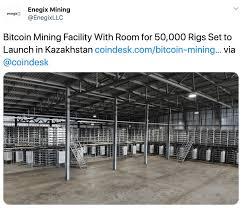 Как купить биткоин в казахстане? Enegix S Bitcoin Mining Farm In Kazakhstan With 50k Mining Rigs
