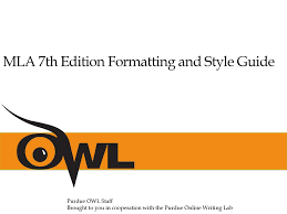 Mla 7th Edition Formatting And Style Guide Ppt Download