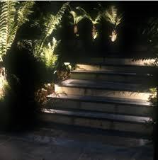 lighting steps. light surrounding features when lighting garden steps for gardens