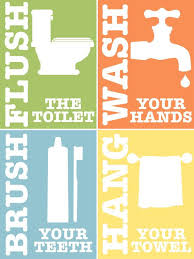 bathroom rules for kids. Delighful Rules Kids Bathroom Rules Set Of 4 Printable Art By PrintablesByAshley Intended For Pinterest