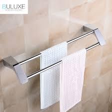 bath towel hanger. BULUXE Double Towel Bars Brushed Stainless Steel Bathroom Hanger Rack Wall Mounted Accessories Bath