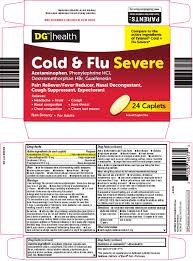Tylenol Cold And Flu Severe Dosage Chart Dg Health Cold And Flu Severe Tablet Film Coated
