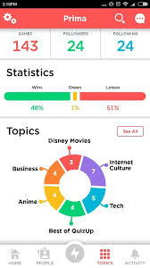 Chart Game App Quiz Up Pie Chart Quiz Design App Design Dashboard Mobile