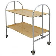 midcentury folding bar cart drinks