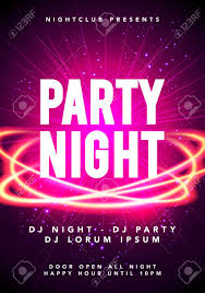 Concert Invite Template Vector Illustration Of Party Night Dance Music Poster Template