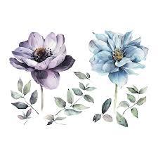 временная татуировка летние цветы цветная