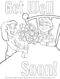 Feel Better Coloring Pages Free Get Well Coloring Pages Best Soon In
