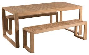 oslo 3 piece teak outdoor dining set contemporary outdoor dining sets by dpi import