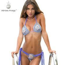 Online Shop Adriana Arango <b>2019</b> Diamon Jewel <b>Crochet Bikini</b> ...