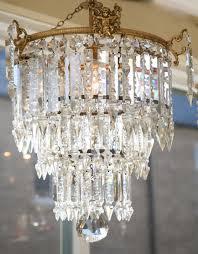 beautiful edwardian cut glass chandelier