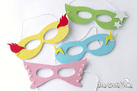 Plastic Masks To Decorate Simple super hero masks with printable template The Craft Train 76