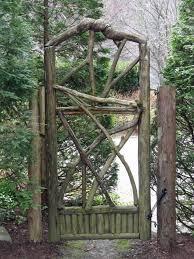 garden design details rustic wood gates