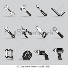 hand tools list. single color icons - hand tools csp9573883 list