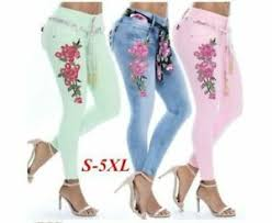 The Buckle Jeans Size Chart Details About High Waist Buckle Jeans Embroidered Stretch Full Length Women Pant