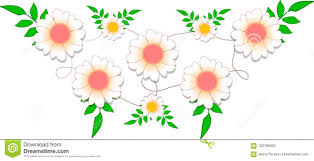 Vine Flower Design Tender Design Of Flowers Inspired By Daisies And Vines Stock