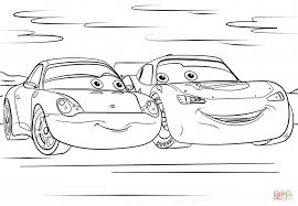 remarkable free lightning mcqueen coloring s and sally from cars 3