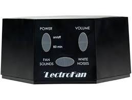 fan sound machine. black fan sound machine