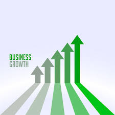 Business Success And Growth Chart Arrow Concept Vector