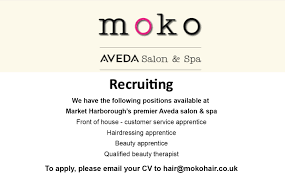 we are recruiting moko salon spa moko salon spa recruiting