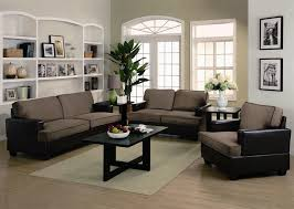 Caleb 3 Piece Sofa Set in two Tone Upholstery by Coaster
