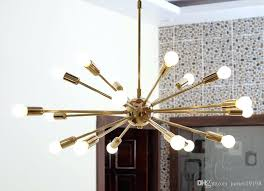 new modern detail classic mid century pendant lamp polished brass sputnik atomic chandelier star industrial affordable pendant lights