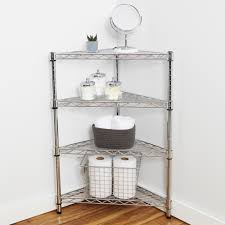 Corner Shelving Unit For Bathroom Chrome Corner Shelving Unit Storables In Bathroom Shelf Idea 100 25