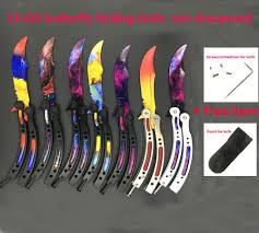 CS GO Butterfly in knife training knife <b>Karambit folding knife</b> gift ...
