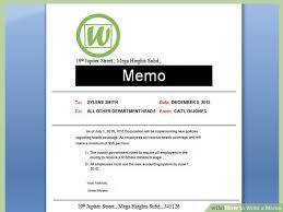 memos samples how to write a memo with pictures wikihow