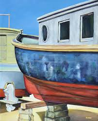 boat painting boat hull by robert henne
