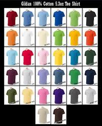 Gildan Color Chart 2019 Gildan Cotton Shirt Colors Coolmine Community School