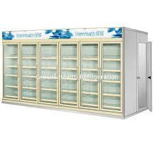 multi deck dairy glass door freezer back load beverage cooler cooling room
