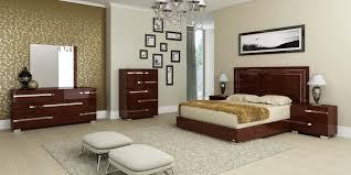 Modern Walnut Bedroom Furniture Volare Queen Size Modern Walnut Bedroom Set 5pc Made In Italy Ebay