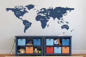 world map wall decal ideas