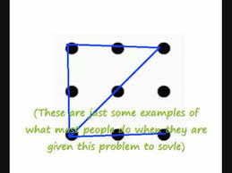 9 dots and 4 lines riddle: How To Connect Sovle The 9 Dots Problem Youtube