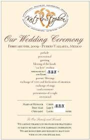 sample wedding program wording wedding program wording destination weddings in jamaica best
