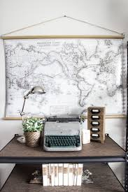 diy vintage pull down map blesserhouse com great alternative to the real