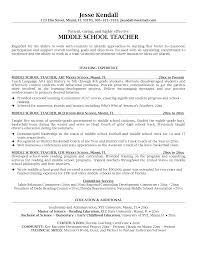 Resume Example For Teachers