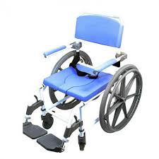18 aluminum rolling shower commode chair with 24 wheels