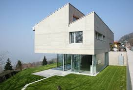 architecture modern houses.  Modern Topheavy Geometric Concrete Home In Daylight For Architecture Modern Houses