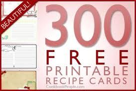 Christmas Recipe Card Free Recipe Card Templates Recipes Editable Christmas Template