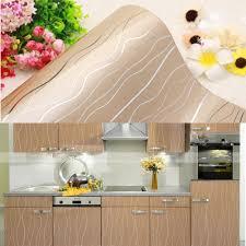 Kitchen Cabinet Shelf Paper Yazi Glossy Champagne Stripe Pvc Shelf Liner Contact Paper Kitchen Units Cupboard Door Cover Wallpaper 61x250cmjpg
