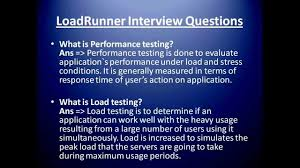 Loadrunner Interview Questions And Answers Loadrunner Resume