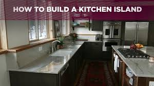 How to Build a Kitchen Island Video DIY