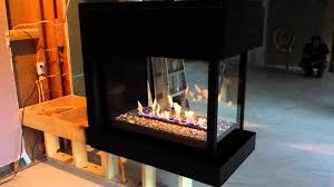 3 sided montigo fireplace in black