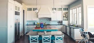 white and blue kitchen decor