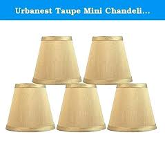 mini chandelier lamp shade chandeliers shades clip on urbanest taupe ha