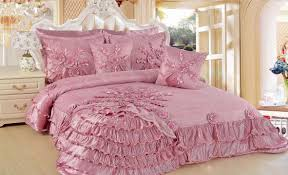bedroom classic girls bedroom with pink ruffle satin romantic from classic design girl bedroom bedding sets