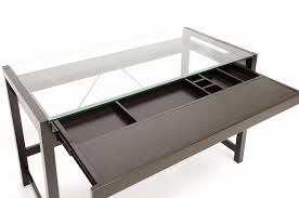 glass desk with keyboard tray inspirational top intended for designs 14