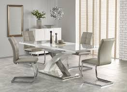 crafted to the highest standards from mdf and supported by a sy pedestal leg the dining table is complete with a beautiful white high gloss finish